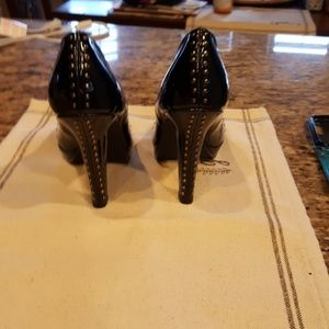 Restricted Shoes - Studded 3.5 inch black heels